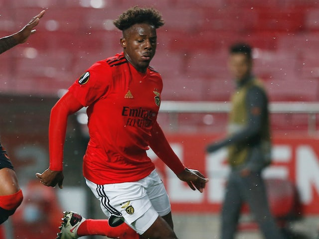 Benfica defender Nuno Tavares pictured in action in November 2020