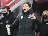 VfL Wolfsburg coach Oliver Glasner reacts on January 23, 2021