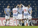 Porto's Antonio Martinez celebrates scoring their second goal with teammates in January 2021