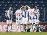 Porto's Antonio Martinez celebrates scoring their second goal with teammates in January 2021