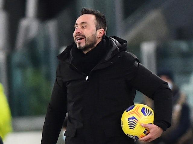 Sassuolo coach Roberto De Zerbi pictured in January 2021