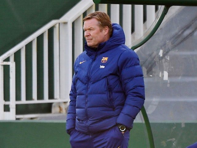 Barcelona head coach Ronald Koeman pictured on January 24, 2021
