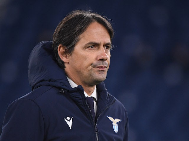 Lazio head coach Simone Inzaghi pictured on January 15, 2021
