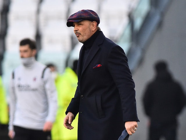 Bologna coach Sinisa Mihajlovic looks dejected after the match on January 24, 2021