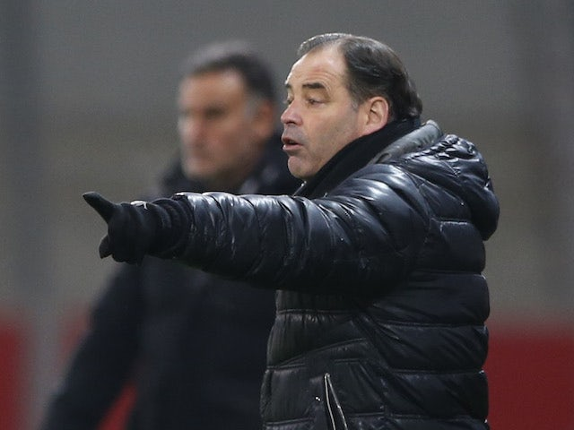 Angers manager Stephane Moulin pictured in January 2021