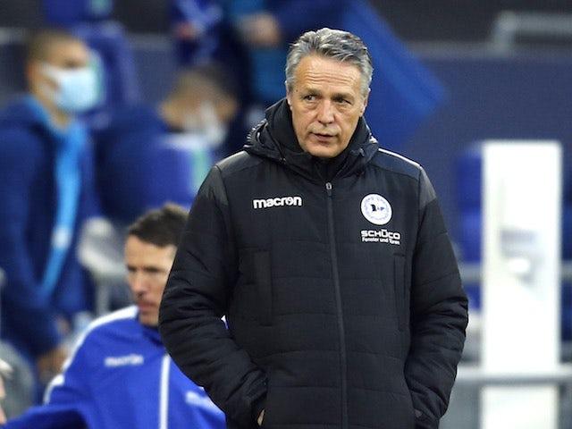 Arminia Bielefeld manager Uwe Neuhaus pictured in December 2020