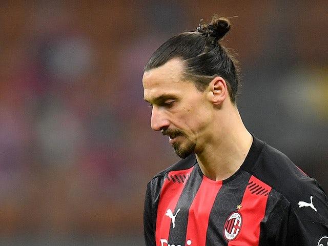 AC Milan striker Zlatan Ibrahimovic pictured on January 23, 2021