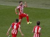 Atletico Madrid's Luis Suarez celebrates scoring against Cadiz in La Liga on January 31, 2021