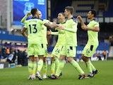 Callum Wilson celebrates scoring for Newcastle United against Everton in the Premier League on January 30, 2021