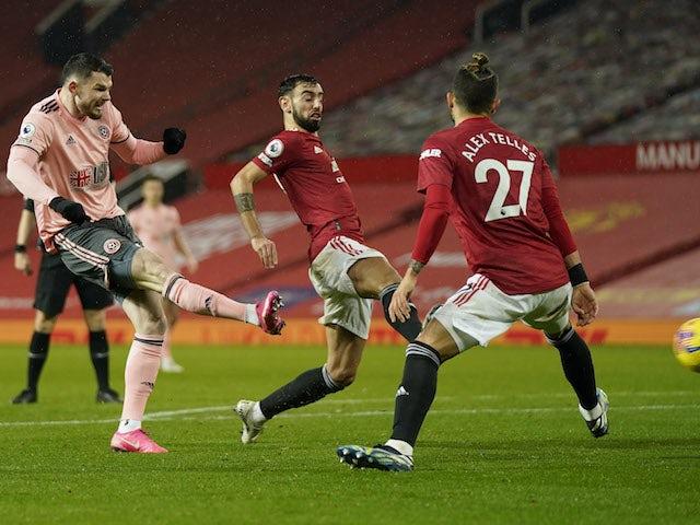 Result: Burke nets winner as Sheffield United stun Man United at Old Trafford