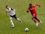 Reading's Lucas Joao in action with Preston North End's Ben Davies in January 2021