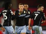 Ross Barkley celebrates scoring for Aston Villa against Southampton in the Premier League on January 30, 2021