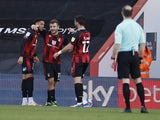 Bournemouth's Jack Wilshere celebrates after scoring their second goal on February 6, 2021