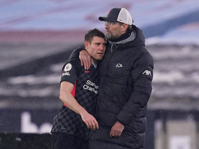 Liverpool's James Milner against European Super League