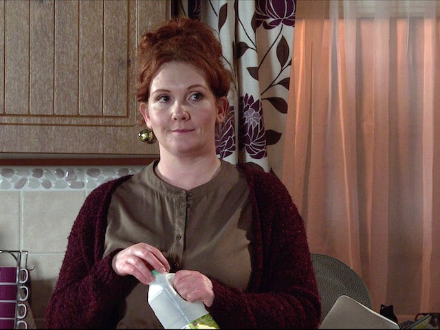 Fiz on the second episode of Coronation Street on February 17, 2021