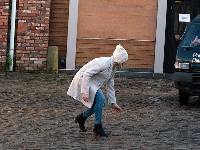 Leanne on Coronation Street on February 19, 2021