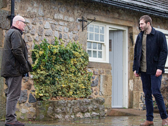 Paddy and Jamie on the first episode of Emmerdale on February 18, 2021