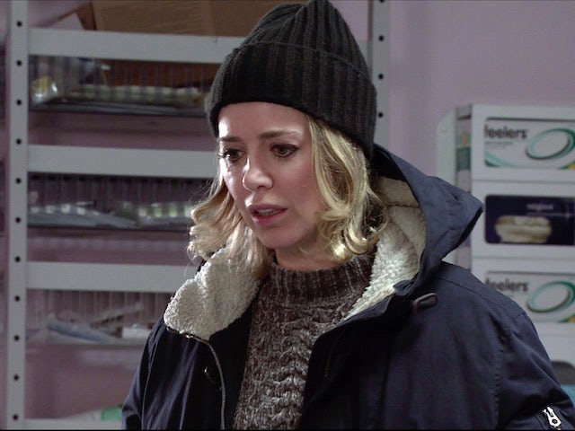 Abi on the second episode of Coronation Street on February 17, 2021
