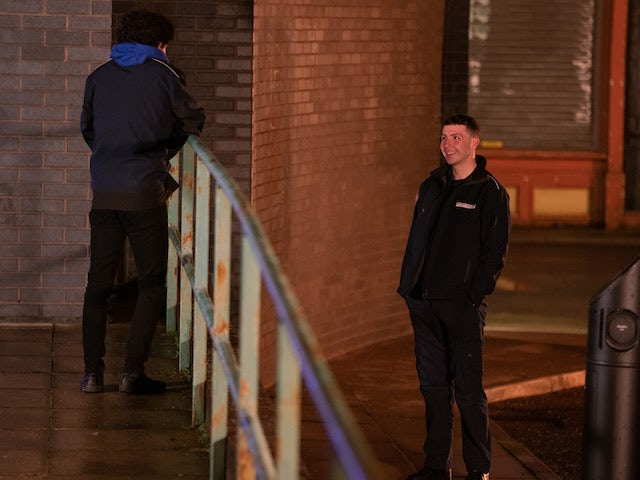 Jacob on the first episode of Coronation Street on February 17, 2021
