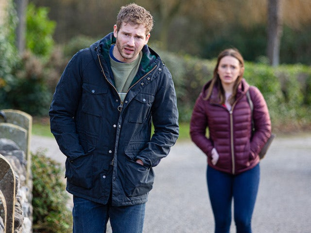 Jamie and Gabby on Emmerdale on February 17, 2021