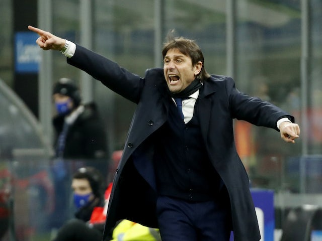 Inter Milan manager Antonio Conte pictured on February 14, 2021