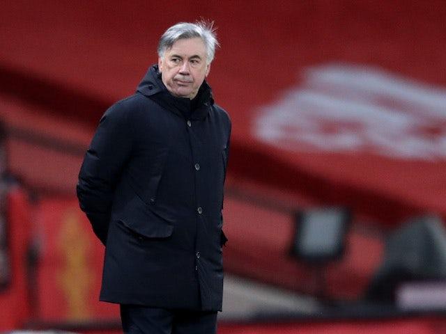 Everton manager Carlo Ancelotti pictured in February 2021