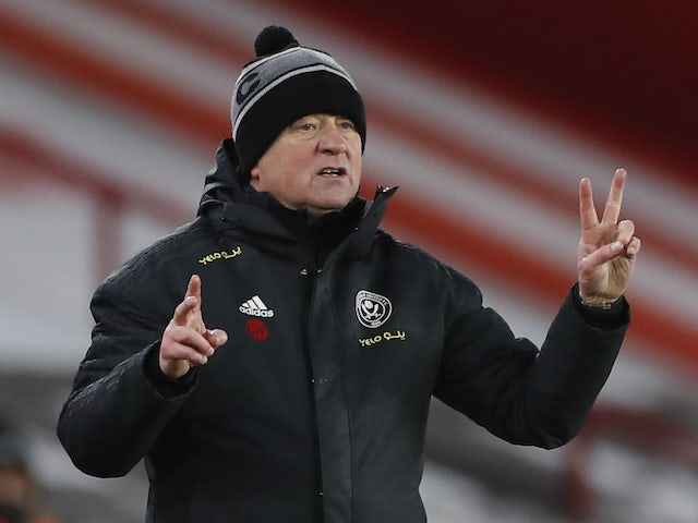 Sheffield United manager Chris Wilder pictured on February 7, 2021