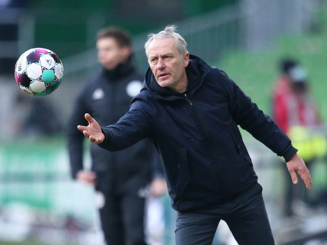 Freiburg coach Christian Streich pictured on February 13, 2021
