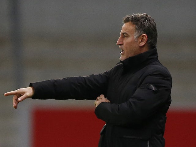 Lille coach Christophe Galtier pictured on February 14, 2021