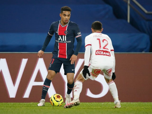 Colin Dagba in action for PSG in January 2021
