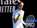 Daniil Medvedev pictured at the Australian Open in February 2021