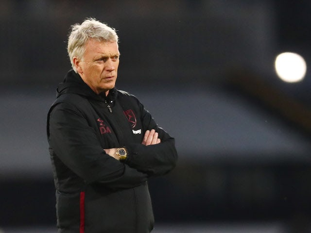 West Ham United manager David Moyes pictured in February 2021