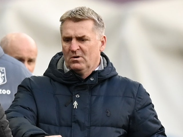 Aston Villa manager Dean Smith pictured in February 2021