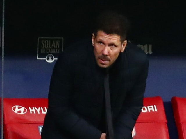 Atletico Madrid manager Diego Simeone pictured on February 2021