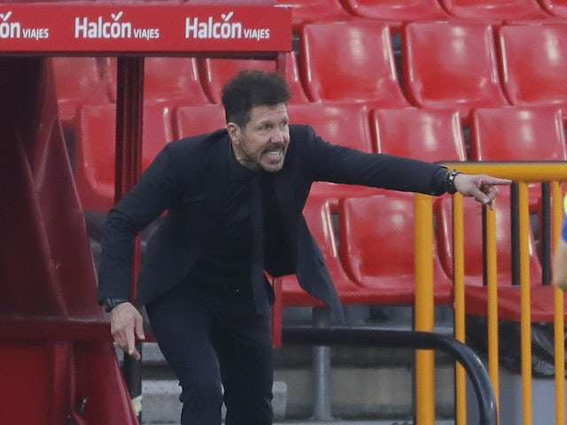 Atletico Madrid manager Diego Simeone pictured on February 13, 2021