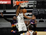 Milwaukee Bucks forward Giannis Antetokounmpo in action on February 10, 2021