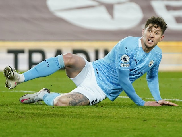 John Stones in action for Man City on February 7, 2021