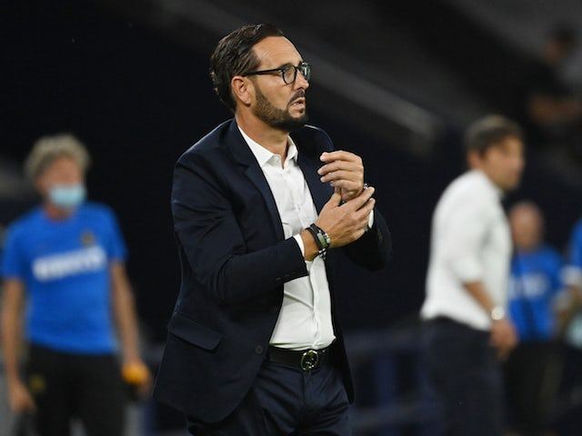 Getafe head coach Jose Bordalas pictured in August 2020