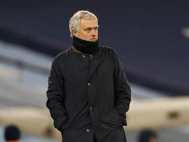 Tottenham Hotspur manager Jose Mourinho pictured on February 13, 2021