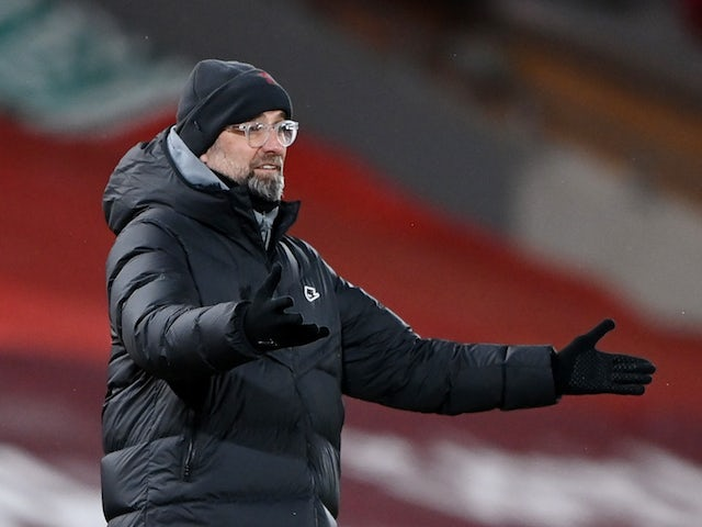 Liverpool manager Jurgen Klopp pictured in February 2021