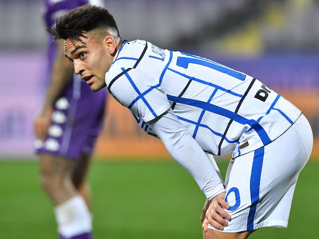 Lautaro Martinez in action for Inter Milan on February 5, 2021
