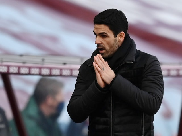 Arsenal manager Mikel Arteta pictured in February 2021