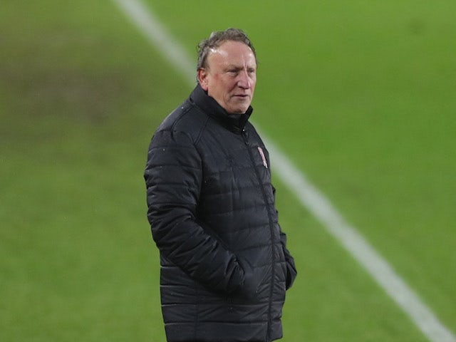 Middlesbrough manager Neil Warnock pictured in February 2021