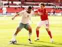Nottingham Forest's Luke Freeman in action with Bournemouth's Cameron Carter-Vickers in the Championship on February 13, 2021