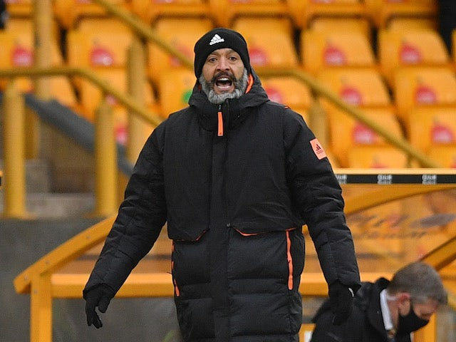 Wolverhampton Wanderers manager Nuno Espirito Santo pictured on February 7, 2021