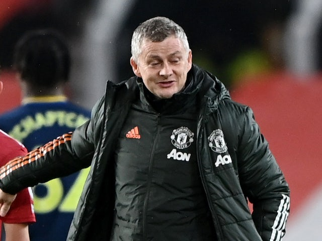 Manchester United manager Ole Gunnar Solskjaer pictured in February 2021