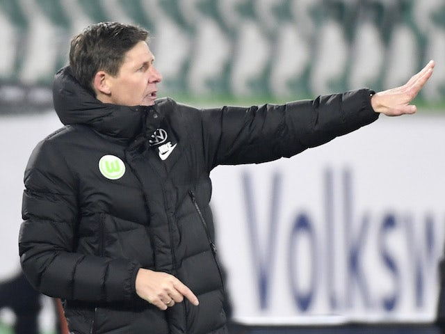 Wolfsburg coach Oliver Glasner pictured on February 14, 2021