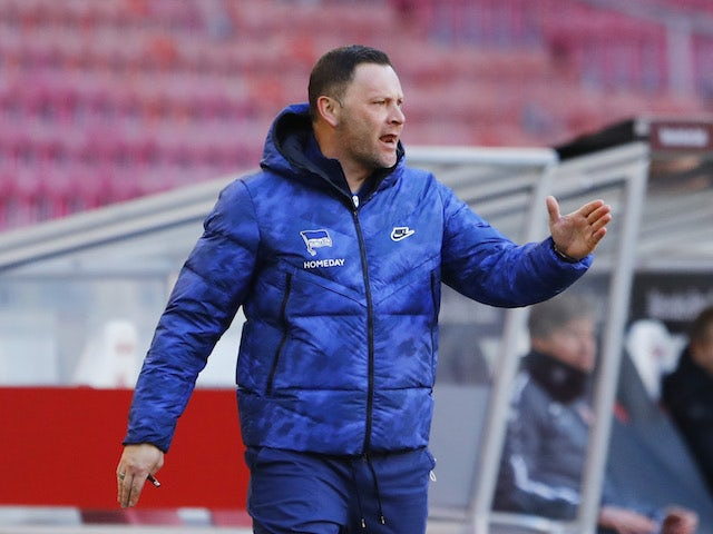 Hertha Berlin head coach Pal Dardai on February 13, 2021