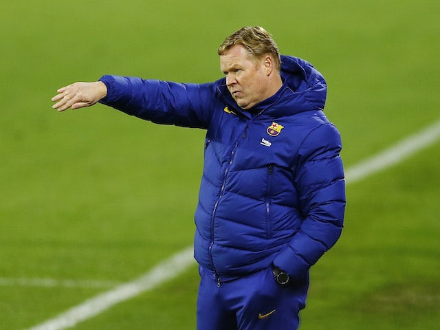 Barcelona manager Ronald Koeman pictured in February 2021