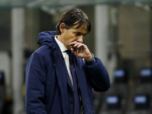 Lazio coach Simone Inzaghi pictured on February 14, 2021